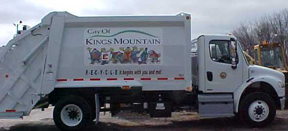 Kings Mountain Recycling Truck